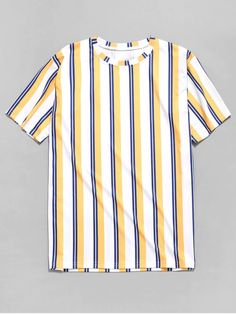 camiseta listrada – listra amarela azul e branco