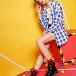 camisa quadriculada azul  tumblr