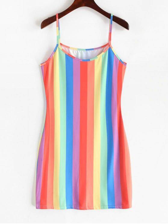 vestido colorido tumblr