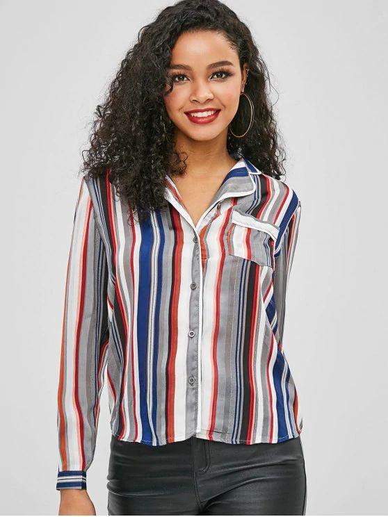 camisa listrada colorida