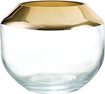 Vaso Dourado em Vidro Dourado