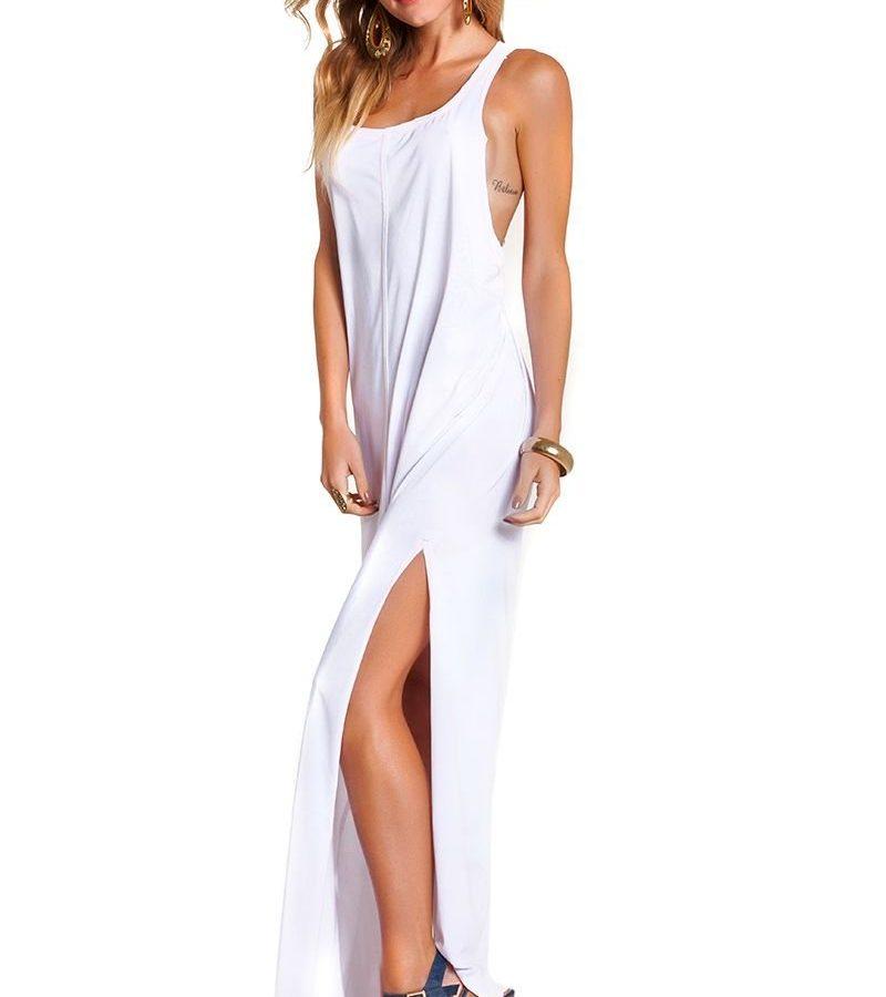 Vestido Empress Brasil Regata Branco