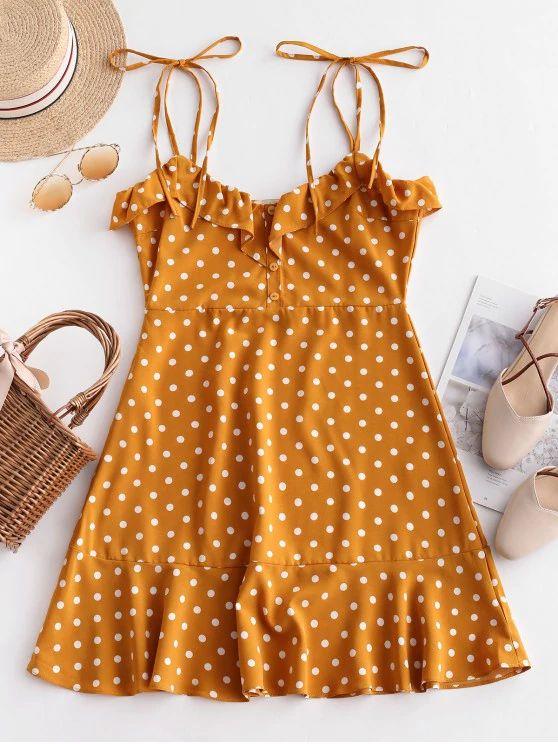 Vestido amarelo estampa poá