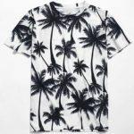camiseta  estampa coqueiro