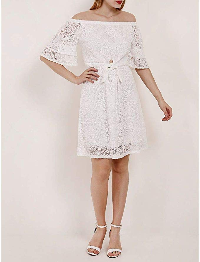 Vestido Curto Feminino Autentique Branco
