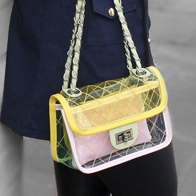 Bolsa Passeio Transparente cor Amarelo