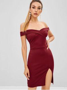 Vestido curto-Vinho