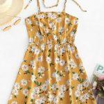 Vestido floral amarelo