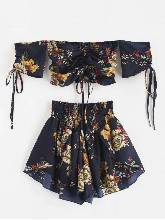 Conjunto floral tumblr
