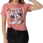 camiseta  de Manga Curta,Disney,Feminino