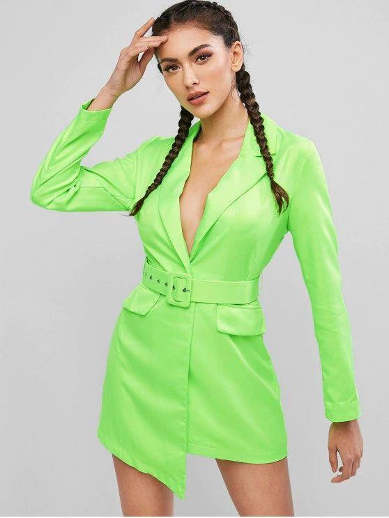 vestido -verde neon