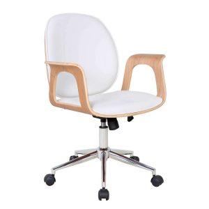 Cadeira de Escritório Diretor Giratória Kinnula Branca