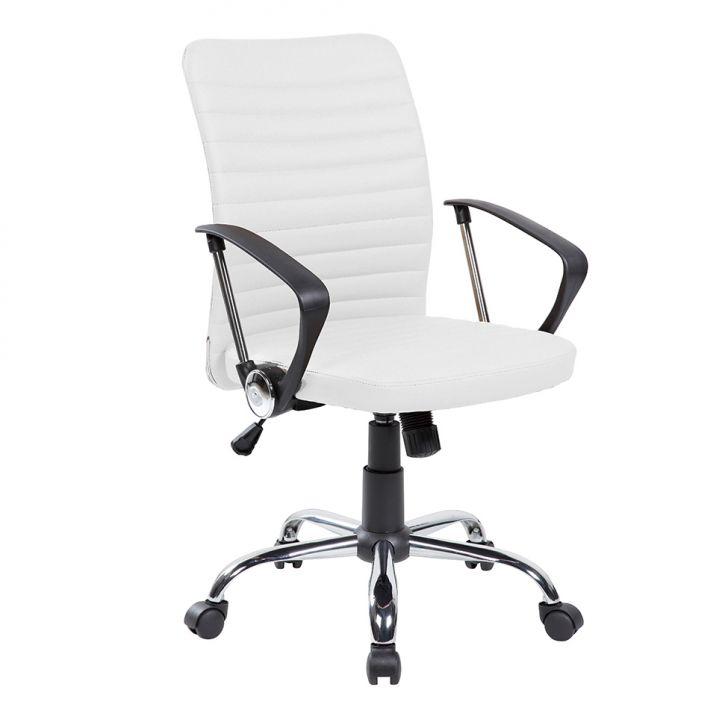 Cadeira de Escritório Diretor Giratória Oslo Branca