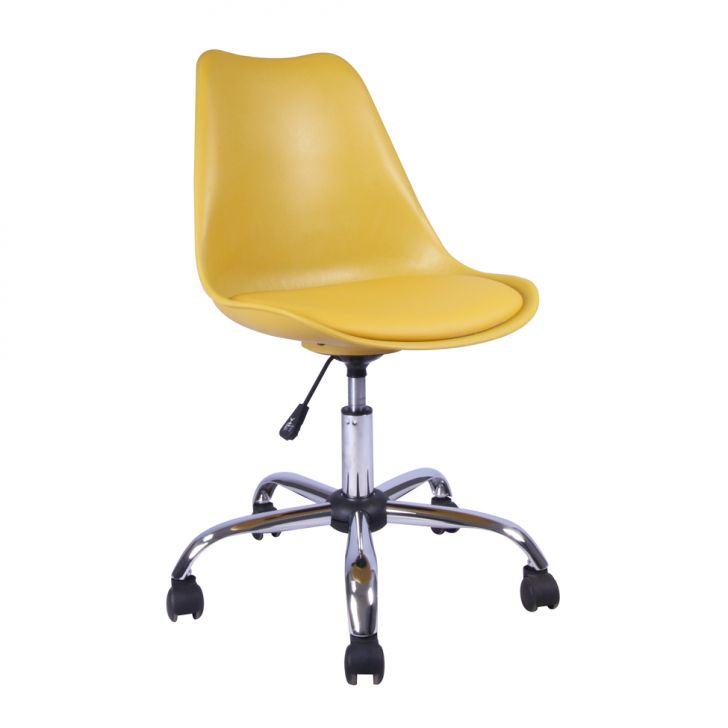 Cadeira de Escritório Giratória Eames Amarela