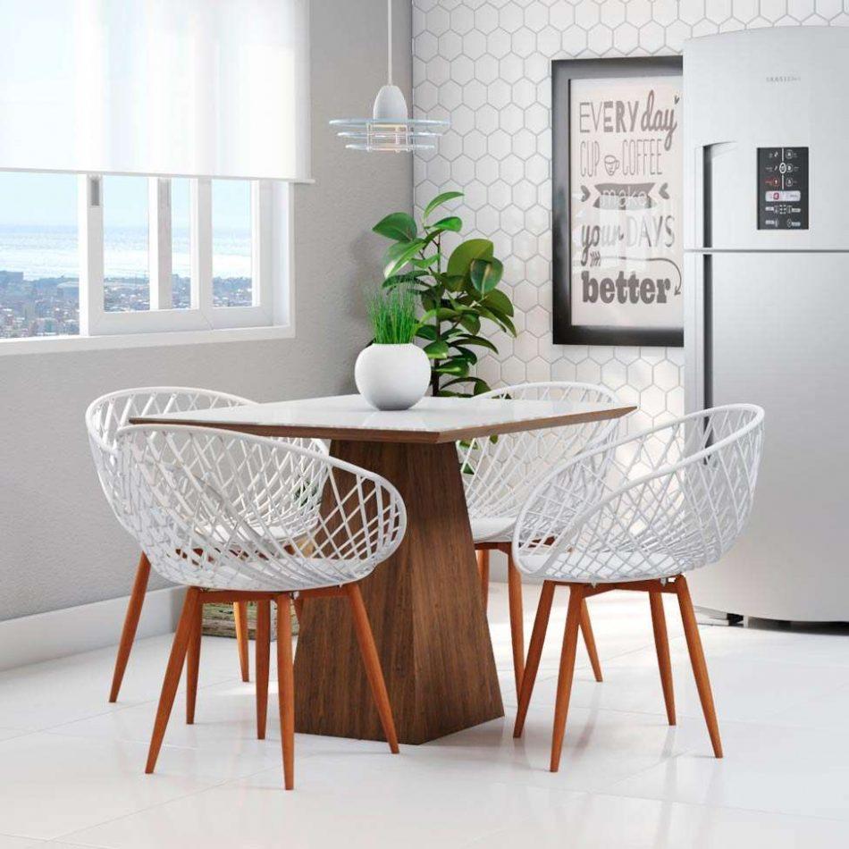 Conjunto com 2 Cadeiras Sidera Branco