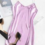 vestido estampa metálica rosa