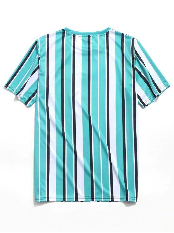 Camiseta listrada azul