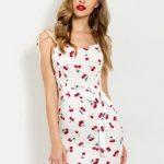 Vestido branco estampa cereja