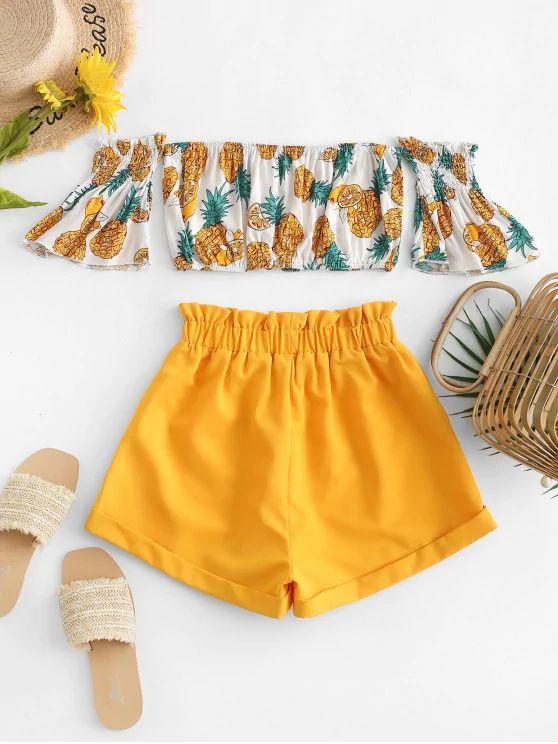 Conjunto verão abacaxi