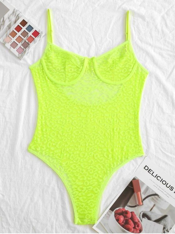 Body lingerie -verde neon