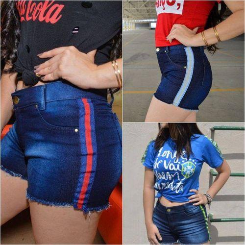 Short Jeans Feminino com Lycra