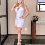 Vestido Branco Brilhante