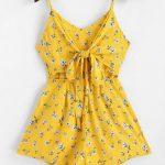 Macaquinho estampa floral amarelo