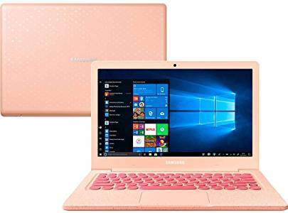 Notebook Samsung Flash F30 Intel Celeron , 4GB RAM, 64GB SSD , Tela Full HD 13.3″, Windows 10 – Rosa