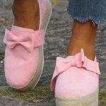 Espadrille plataforma – rosa