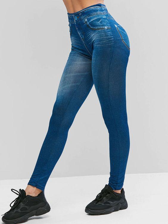 Legging estampa jeans