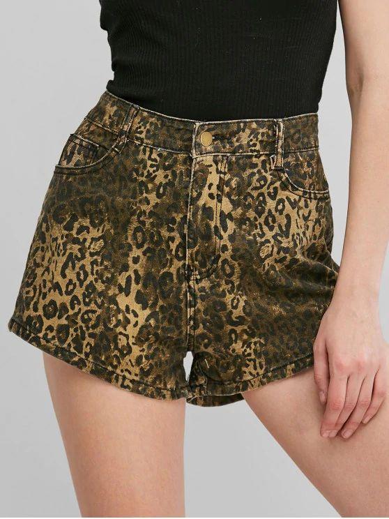 short estampa leopardo