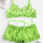 Lingerie fashion verde