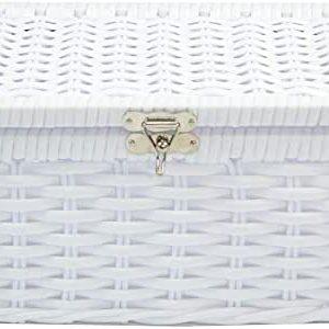 Porta Joias Organizador Fibra Bijouteria 25x15x12 – Branco