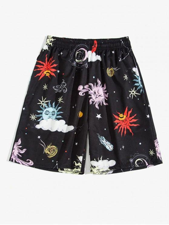 Saia estampa galaxias fashion