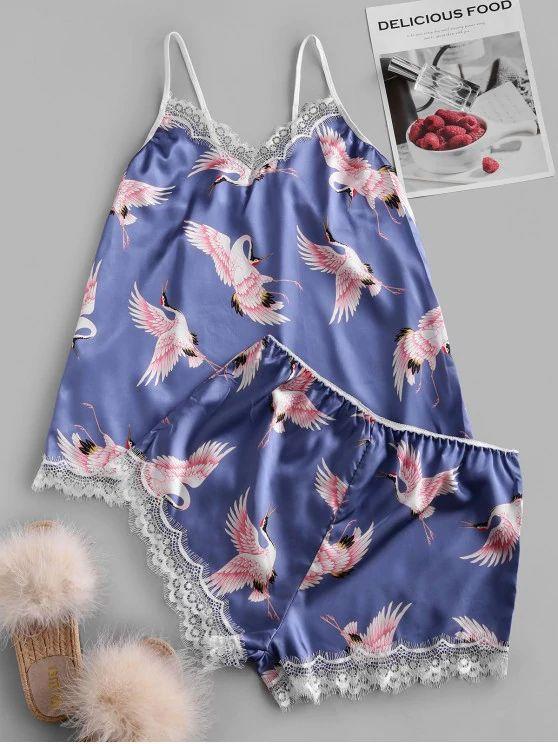 Pijama estampa flamingo de