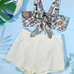 Conjunto short e top de laço