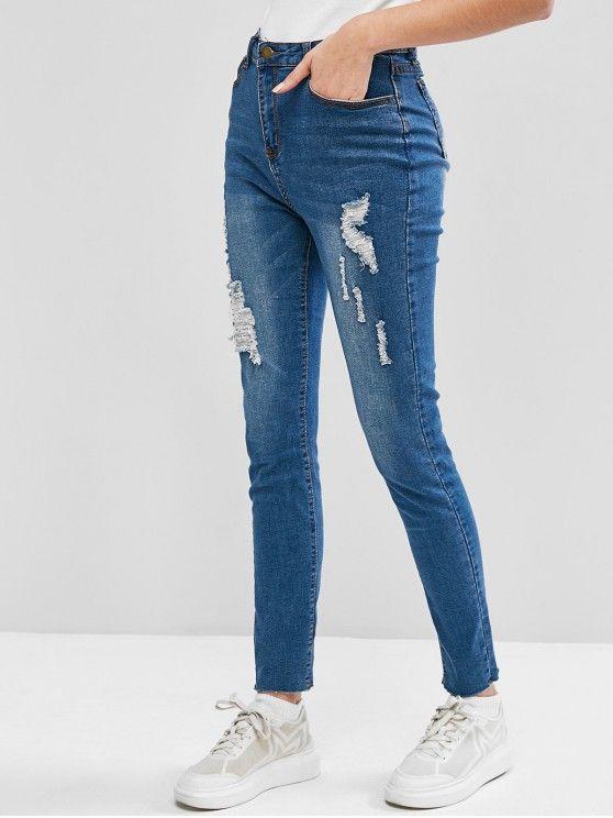 Calça jeans  com detalhes