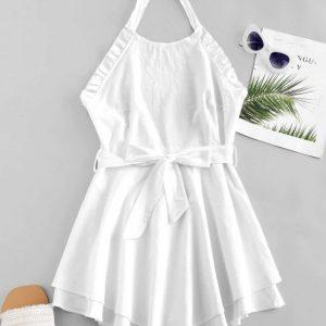 Vestido branco de laço