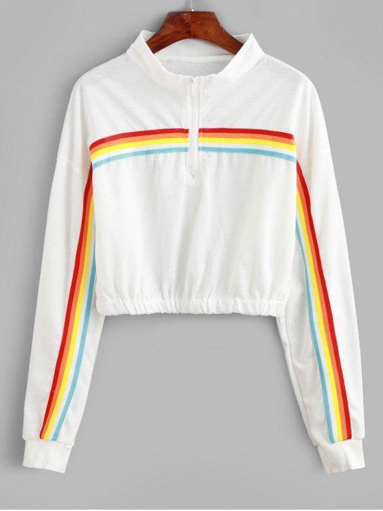 Blusa com listra-arco iris