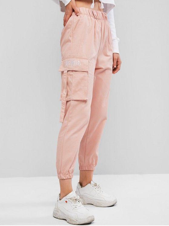 Calça jogger  com bolsos – rosa