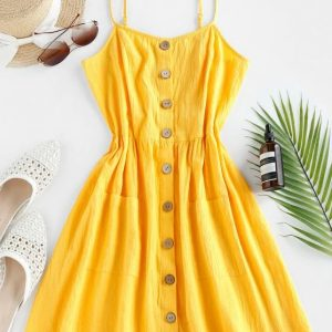 vestido amarelo retro