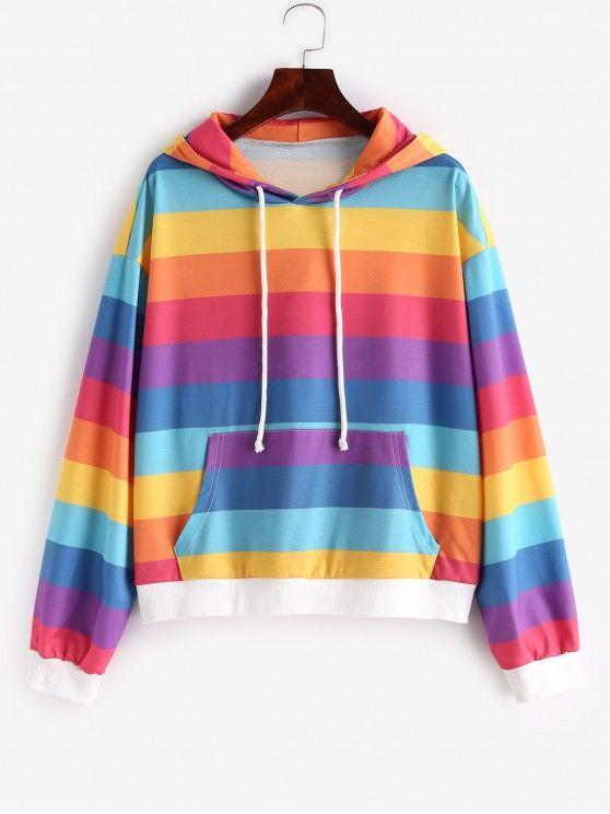 Blusa moletom arco iris