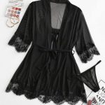 Conjunto de lingerie – preto