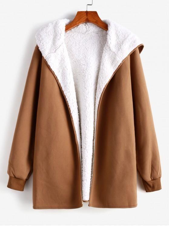 Blusa marrom com interior branco veludo