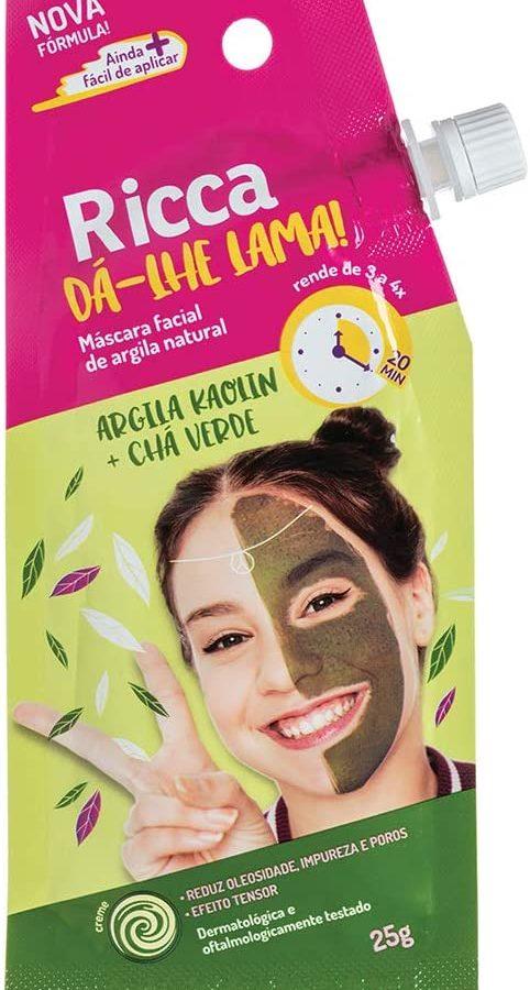 Mascara Facial de Argila Natural, Ricca, Verde