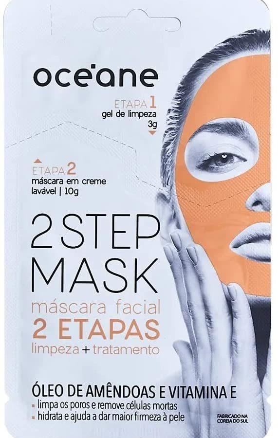 Máscara Facial 2 Etapas Dual-Step Mask Amêndoa, Océane, Branco