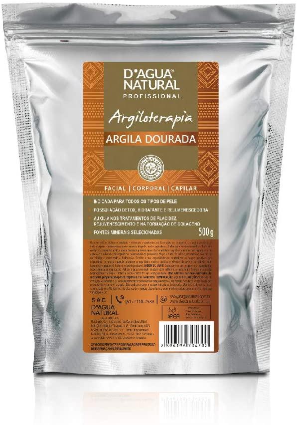 Argila Dourada, D'agua Natural, 500 g