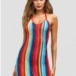 Vestido multicolor listrado