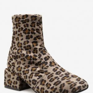 Bota estampa animal print -Leopardo