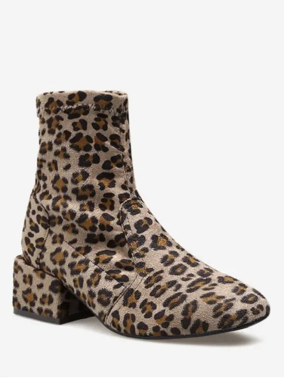 Bota estampa animal print -Leopardo